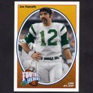 1991 Upper Deck Football Joe Namath Heroes #13 Joe Namath - New York Jets