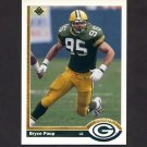 1991 Upper Deck Football #670 Bryce Paup RC - Green Bay Packers