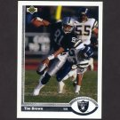 1991 Upper Deck Football #294 Tim Brown - Los Angeles Raiders