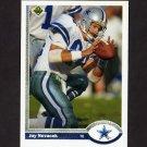 1991 Upper Deck Football #109 Jay Novacek UER - Dallas Cowboys