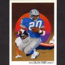 1991 Upper Deck Football #089 Barry Sanders / Team Checklist - Detroit Lions