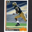 1991 Upper Deck Football #008 Mike Pritchard RC - Atlanta Falcons