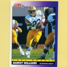 1991 Score Football #588 Harvey Williams RC - Kansas City Chiefs
