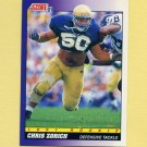 1991 Score Football #579 Chris Zorich RC - Chicago Bears