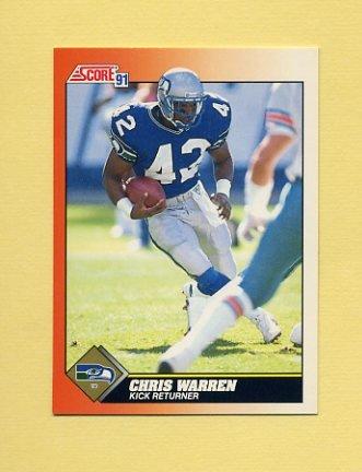 1991 Score Football #439 Chris Warren - Seattle Seahawks