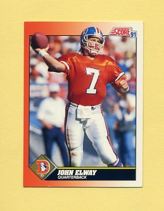 1991 Score Football #410 John Elway - Denver Broncos