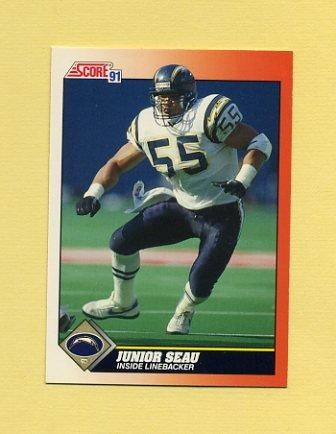 1991 Score Football #354 Junior Seau - San Diego Chargers