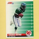 1991 Score Football #321 Terance Mathis - New York Jets