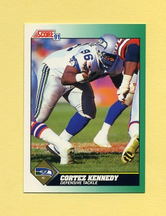 1991 Score Football #279 Cortez Kennedy - Seattle Seahawks