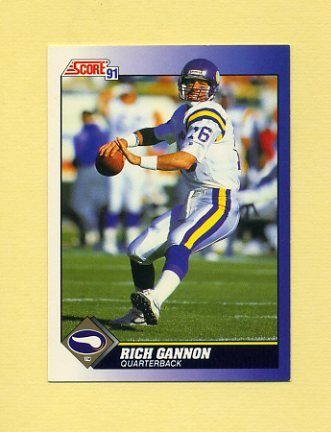 1991 Score Football #086 Rich Gannon - Minnesota Vikings