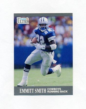1991 Ultra Football #165 Emmitt Smith - Dallas Cowboys