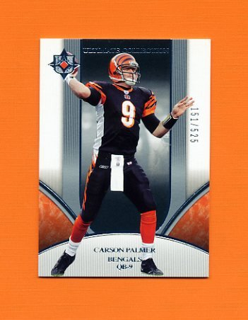 2006 Ultimate Collection Football #037 Carson Palmer - Cincinnati Bengals /525