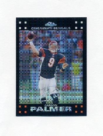 2007 Topps Chrome Football Xfractors #TC3 Carson Palmer - Cincinnati Bengals