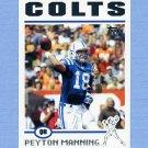 2004 Topps Football #001 Peyton Manning - Indianapolis Colts