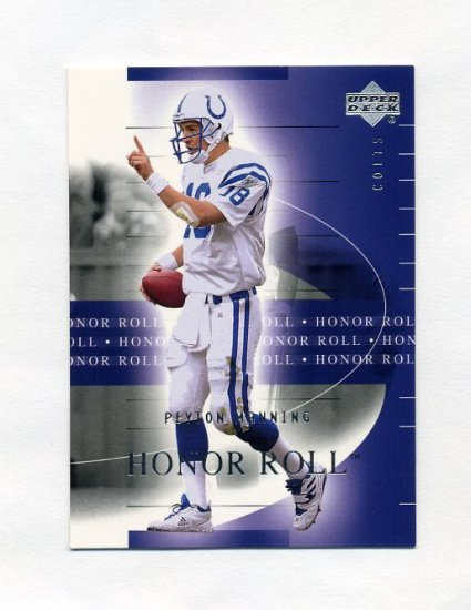 2002 Upper Deck Honor Roll Football #024 Peyton Manning - Indianapolis Colts