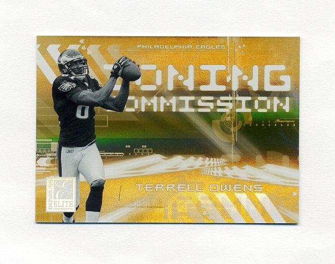 2006 Donruss Elite Zoning Commission Gold #18 Terrell Owens - Philadelphia Eagles /1000