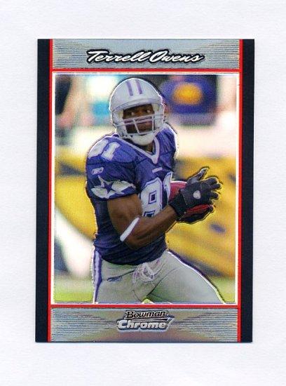 2007 Bowman Chrome Refractors Football #BC197 Terrell Owens - Dallas Cowboys