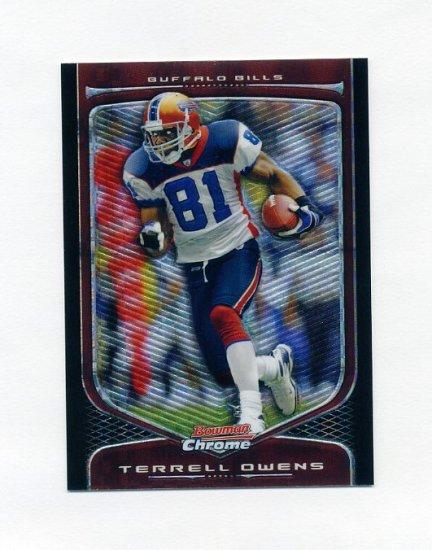 2009 Bowman Chrome Xfractors Football #76 Terrell Owens - Buffalo Bills /250