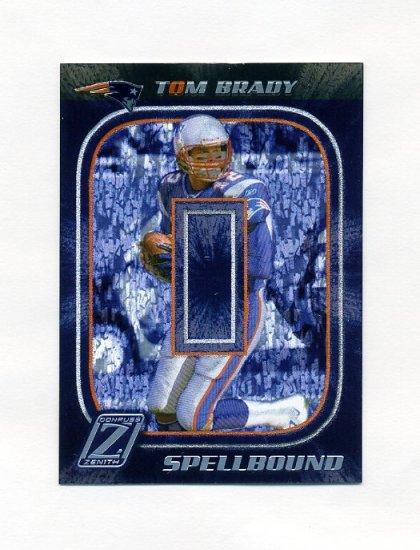 2005 Zenith Spellbound Silver Football #S2 Tom Brady - New England Patriots
