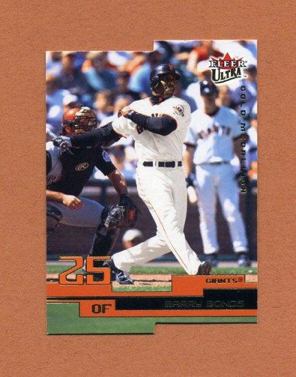 2003 Ultra Gold Medallion Baseball #001 Barry Bonds - San Francisco Giants
