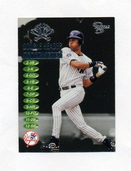 1998 SkyBox Dugout Axcess Double Header #DH04 Derek Jeter - New York Yankees
