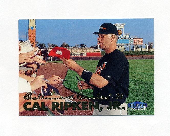 1999 Fleer Tradition Baseball #008 Cal Ripken Jr. - Baltimore Orioles