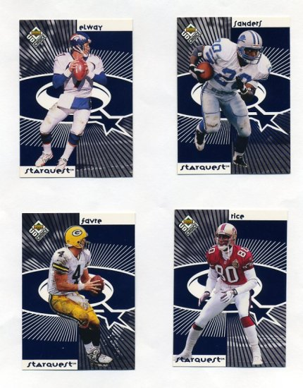 1998 UD Choice Starquest/Rookquest Blue Complete Set - Elway / Manning / Rice / Moss