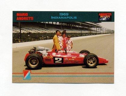 1992 Collect-A-Card Andretti Racing #97 Mario Andretti / Michael Andretti / Jeff Andretti