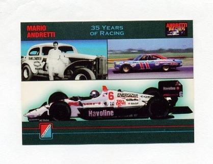 1992 Collect-A-Card Andretti Racing #96 Mario Andretti Collage