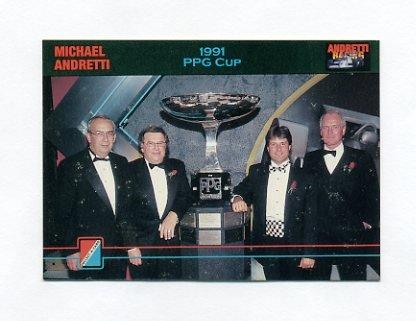 1992 Collect-A-Card Andretti Racing #85 Michael Andretti / Paul Newman