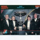 1992 Collect-A-Card Andretti Racing #85 Michael Andretti / Paul Newman