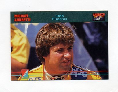 1992 Collect-A-Card Andretti Racing #79 Michael Andretti