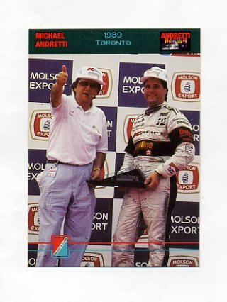 1992 Collect-A-Card Andretti Racing #68 Michael Andretti / Carl Haas