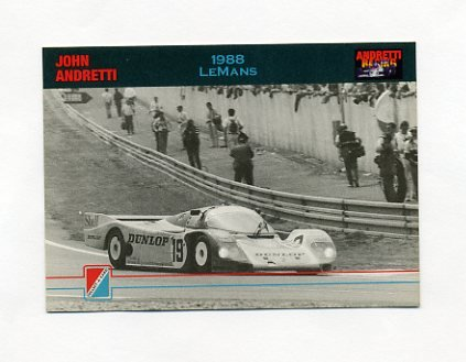 1992 Collect-A-Card Andretti Racing #32 John Andretti / Michael Andretti / Mario Andretti / Car