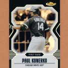 2007 Finest Refractors Black Baseball #060 Paul Konerko - Chicago White Sox 01/99