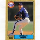 1987 Topps Tiffany Baseball #757 Nolan Ryan - Houston Astros