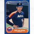 1986 Fleer Baseball #310 Nolan Ryan - Houston Astros