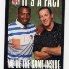 1995 FACT NFL Properties Football #11 Rod Bernstine / Jim Kelly