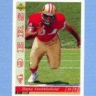 1993 Upper Deck Football #477 Dana Stubblefield RC - San Francisco 49ers