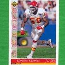 1993 Upper Deck Football #354 Derrick Thomas - Kansas City Chiefs