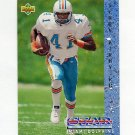 1993 Upper Deck Football #025 Terry Kirby RC - Miami Dolphins