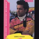 1993 Traks Racing #087 Greg Sacks