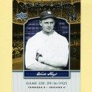 2008 Upper Deck Yankee Stadium Legacy Collection #0220 Waite Hoyt - New York Yankees