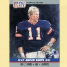 1990 Pro Set Super Bowl MVP's Football #21 Phil Simms - New York Giants