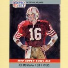 1990 Pro Set Super Bowl MVP's Football #19 Joe Montana - San Francisco 49ers