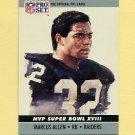 1990 Pro Set Super Bowl MVP's Football #18 Marcus Allen - Los Angeles Raiders