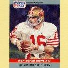 1990 Pro Set Super Bowl MVP's Football #16 Joe Montana - San Francisco 49ers