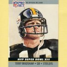 1990 Pro Set Super Bowl MVP's Football #13 Terry Bradshaw - Pittsburgh Steelers