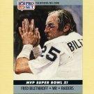 1990 Pro Set Super Bowl MVP's Football #11 Fred Biletnikoff - Oakland Raiders