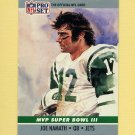 1990 Pro Set Super Bowl MVP's Football #03 Joe Namath - New York Jets